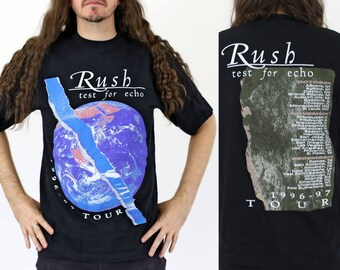 True Vintage RUSH Test for Echo Tour T-shirt Size L Vintage 1990s