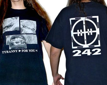 True Vintage FRONT 242 - Tyranny for You 1991 Tour T-shirt Size L