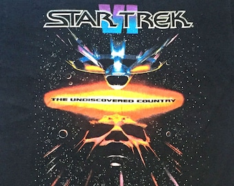 Vintage 1991 STAR TREK VI: The Undiscovered Country T-Shirt