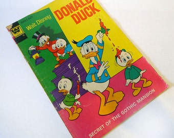 "Walt Disney DONALD DUCK #144 1972 ""Secret of the Gothic Mansion"" Whitman"