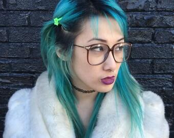 Vintage Cheryl Tiegs 1980s Deadstock Eyeglasses Frames Brown Plastic