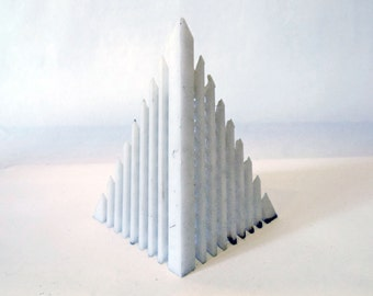 Early 3D Printed Triangle Pyramid Sculpture