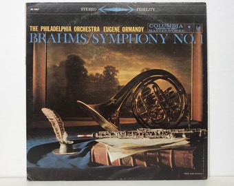 "Brahms Symphony No.1 Eugene Ormandy Philadelphia Orchestra – Vintage Vinyl LP Record 12"" (1959)"