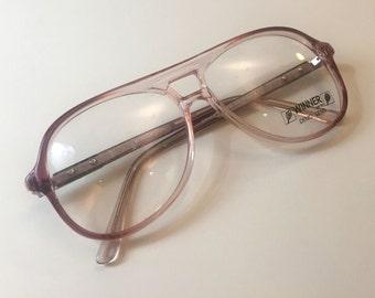 Vintage WINNER 1970s Deadstock Eyeglasses Frames Unisex Smokey Brown Glasses