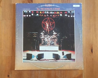 """RUSH – All The Worlds a Stage (1976) Vintage Vinyl 12"""""""