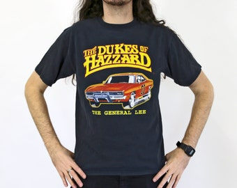 True Vintage The DUKES OF HAZZARD T-shirt with General Lee