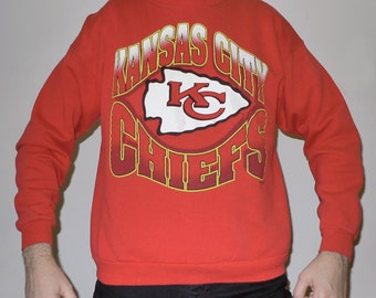 Vintage 1990s NFL Kansas City CHIEFS Hanes Activewear Sweatshirt XL