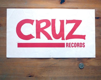 Cruz Records Poster