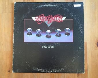 "AEROSMITH – Rocks Vintage Vinyl (1976) Columbia Records 12"""