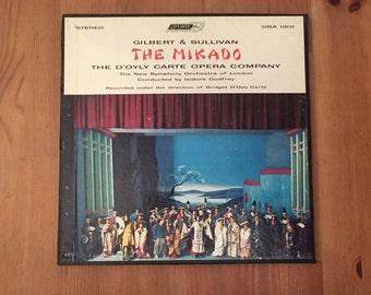 """Gilbert & Sullivan – MIKADO – D'Oyly Carte Opera Box Set (2) w/booklet (1957) Vintage Vinyl 12"""""""