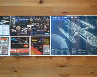 Star Trek: First Contact Promotional Poster The Phoenix Blueprints/Specifications 1996