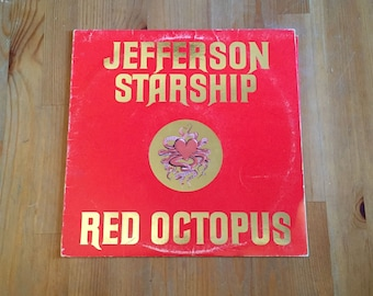 Red Octopus by JEFFERSON STARSHIP Vintage Vinyl (1975) Grunt Records 12""