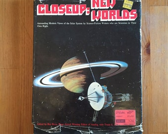 Closeup: New Worlds by Ben Bova, Sci-Fi Illustrated Coffee Table Book 1977