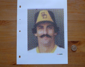ROLLIE FINGERS Posterized Optical Illusion Screenprint