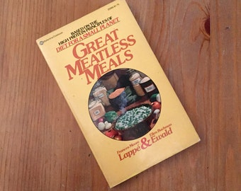 Great Meatless Meals by Frances Moore and Ellen Buchman Ewald Lappé (1974) Vintage Paperback