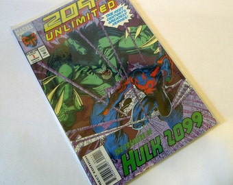 Marvel Comics Unlimited: 2099 #1 (1993) Direct Edition, Hulk & Spider-Man