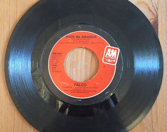 "FALCO Rock Me Amadeus (American Edit / Canadian Version)  45 Single  (1985) Vintage Vinyl 7"" A&M"