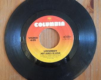 "Loverboy – Hot Girls In Love / Meltdown 45 Single (1983) Vintage Vinyl 7"" Columbia 38-03941"