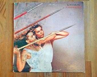 "ROXY MUSIC – Flesh + Blood (1980) Vintage Vinyl Album 12"""