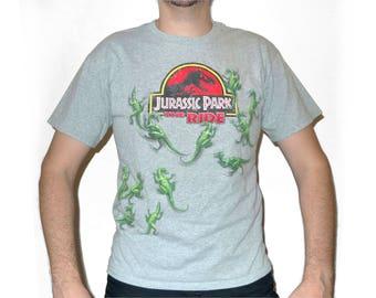Vintage 1990s Universal Studios JURASSIC PARK The Ride T-Shirt M Tri Blend