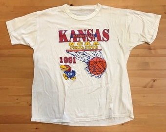 University of Kansas: KU Jayhawks 1991 Final Four True Vintage T-Shirt