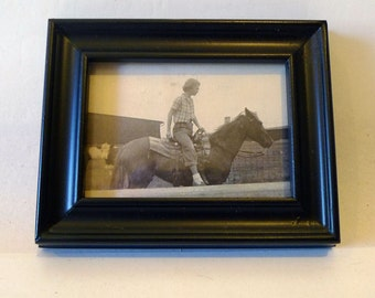 Found Photos - Man on a Horse - Cool Vintage Frame