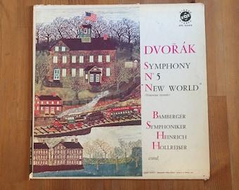 "Dvorak Symphony No. 5 ""New World"" - Bamberger Symphoniker; Heinrich Hollreiser, Conductor – Vintage Vinyl Record (1966)"