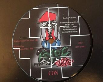 """Con (8) – Wrath Of Con / Thugs Cry  Vinyl 12"""" Promo Single"""