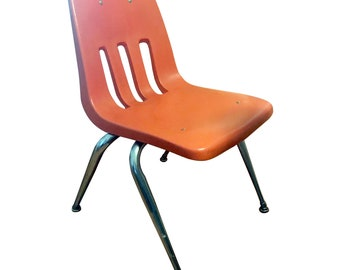 Vintage Orange School Virco Martest Stacking Student Chair