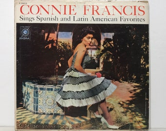 "Connie Francis Sings Spanish & Latin American Favorites – Vintage Vinyl LP Record 12"" (1960)"