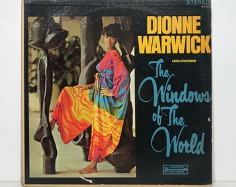 "Dionne Warwick: The Windows Of The World – Vintage Vinyl LP Record 12"" (1967)"