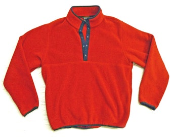 Vintage 1980s L.L. Bean Fleece Medium Weight Pullover Size L