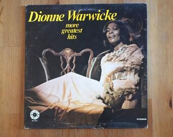"Dionne Warwicke – More Greatest Hits (1977) Vintage Vinyl 12"""