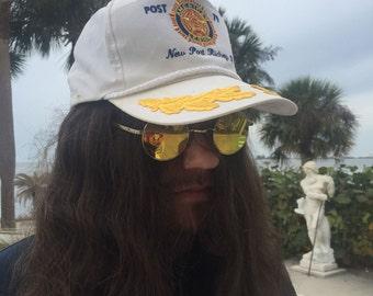 Vintage AMERICAN LEGION Post 79 New Port Ritchey, Florida Snapback Mesh Captians Hat