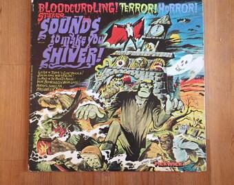 "Sounds To Make You Shiver! (1974) Vintage Vinyl 12"" Pickwick Records LP"