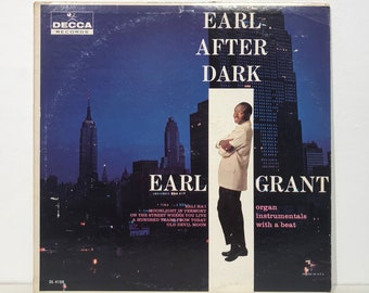 """Earl Grant: Earl After Dark – Vintage Vinyl LP Record 12"""" (1961)"""