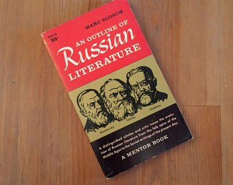 An Outline of Russian Literature by Marc Slonim, Vintage Paperback 1958