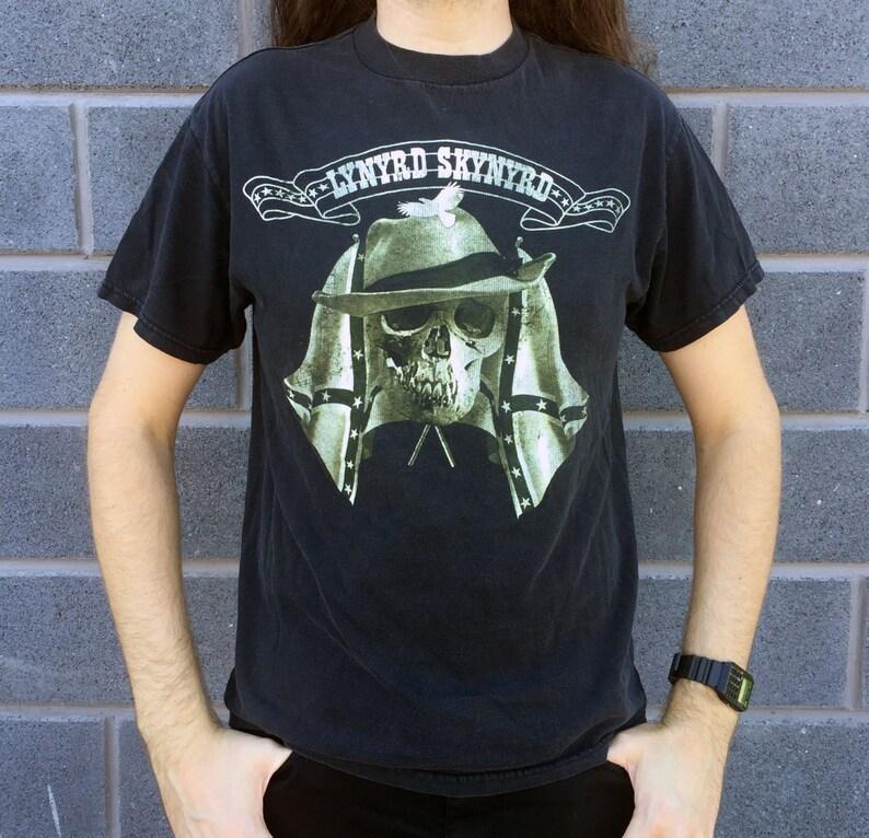 5014b39a74c LYNYRD SKYNYRD Confederate Flags and Soldier Skull Black