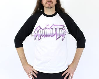 """Vintage 1980s This is SPINAL TAP Baseball Tee """"Turn it up to 11!"""""""