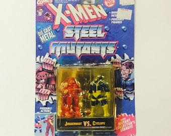 Vintage X-Men: Steel Mutants - CYCLOPS vs JUGGERNAUT - Sealed on Card 1994