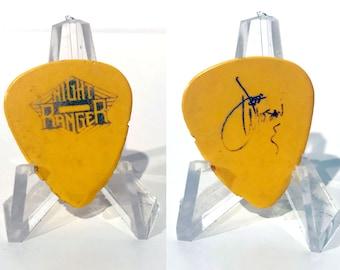 Night Ranger Jeff Watson Authentic 1990s Tour Concert Band Signature Guitar Pick