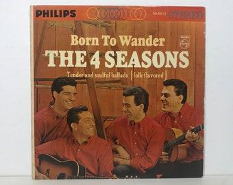 "The 4 Four Seasons: Born to Wander – vintage vinyl record 12"" Frankie Valli 1964"