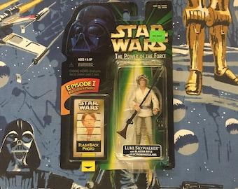 Vintage STAR WARS: Power of the Force • Luke Skywalker • Sealed 1990s Early Episode I Promo