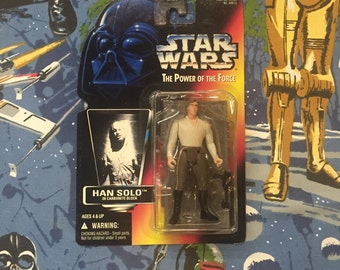 Vintage STAR WARS: Power of the Force • Han Solo in Carbonite Block • Sealed 1996