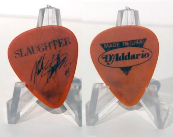 SLAUGHTER - Mark Slaughter Authentic 1994 Tour Concert Band Signature Guitar Pick