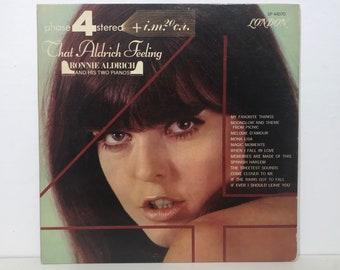 "Ronnie Aldrich & His 2 Pianos: That Aldrich Feeling – Vintage Vinyl LP Record 12"" (1965)"
