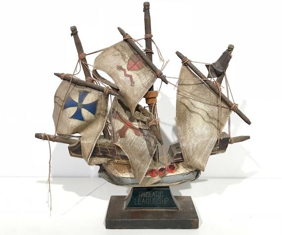 Nave di navigazione lega anseatica modello vintage Made in  48a03b5b984