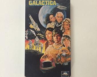 Battlestar Galactica (VHS) Lorne Greene, Richard Hatch BSG