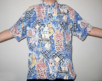 Crazy Eighties Hawaiian Shirt - Impressionist BBQ Print
