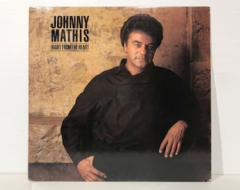 Johnny Mathis: Right From The Heart - Columbia Records Vintage Vinyl Record LP 1985